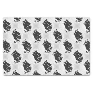 Polar Bear in Grey Tissue Paper