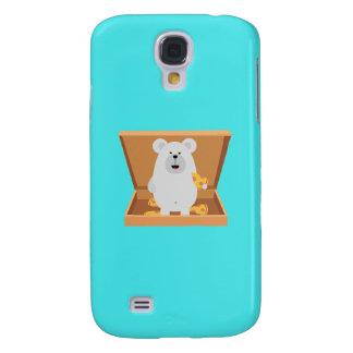 Polar Bear in Pizzabox Q1Q Samsung Galaxy S4 Cover