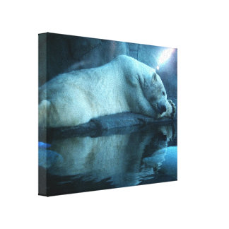 Polar Bear In Prayer 2 Wrapped Canvas Stretched Canvas Print