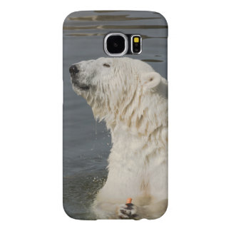 Polar bear in water samsung galaxy s6 cases
