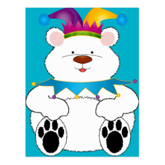 Polar Bear Jester Postcard