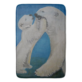 Polar Bear - Kiss Mummy Bath Mat