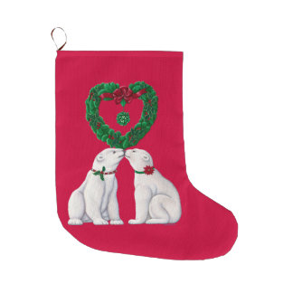 Polar Bear Kiss Stocking