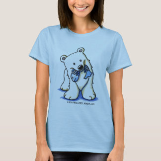 Polar Bear Ladies Baby Doll Fitted T-Shirt