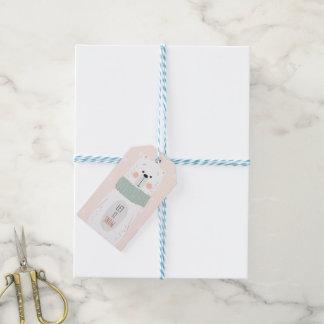 Polar bear - Let it snow - Cute Christmas Gift Tag