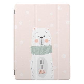 Polar bear - Let it snow - Cute Winter / Christmas iPad Pro Cover