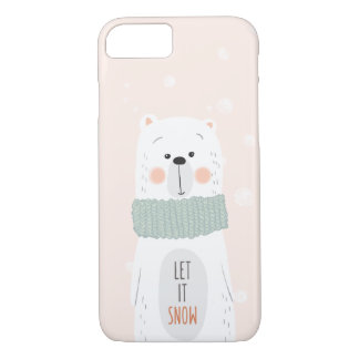Polar bear - Let it snow - Cute Winter / Christmas iPhone 8/7 Case