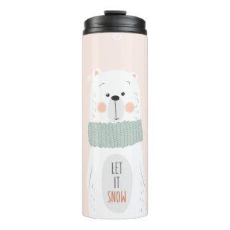 Polar bear - Let it snow - Cute Winter / Christmas Thermal Tumbler