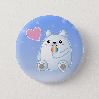 Polar Bear Love 6 Cm Round Badge
