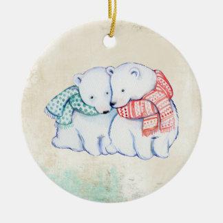 Polar Bear Love Ornament