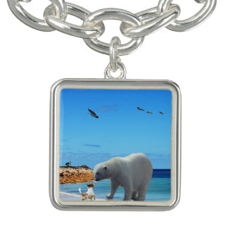Polar Bear Meets Fox Terrier, Charm Bracelet