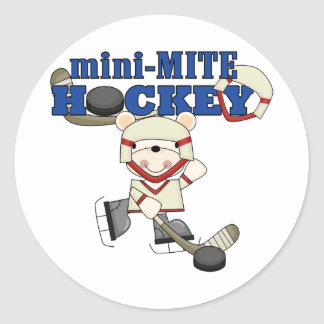 Polar Bear Mini Mite Hockey Tshirts and Gifts Round Stickers