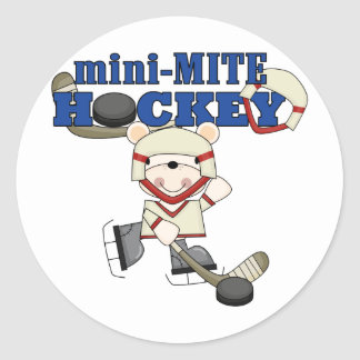 Polar Bear Mini Mite Hockey Tshirts and Gifts Round Stickers