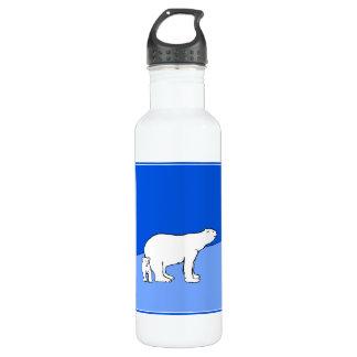Polar Bear Mom and Cub 710 Ml Water Bottle