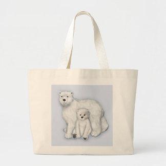 Polar Bear Mom and Cub. Tote Bag