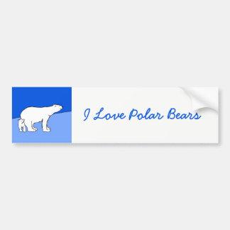 Polar Bear Mom and Cub Bumper Sticker