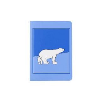 Polar Bear Mom and Cub Passport Holder