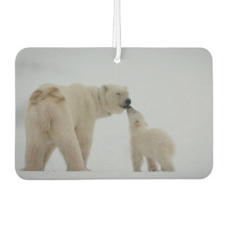 Polar Bear Mother with Cub Car Air Freshener