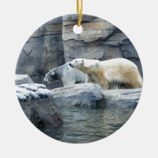 Polar Bear: Nakita and Berlin Ceramic Ornament