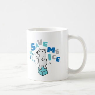 Polar Bear on Ice Coffee Mug