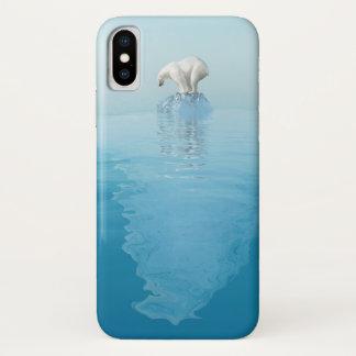 Polar Bear on Iceberg iPhone X Case