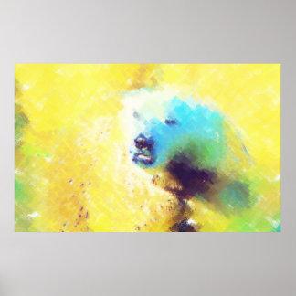 POLAR BEAR ORIGINAL ART Photo Manipulation Poster