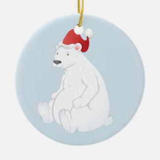 Polar bear ornament. ceramic ornament