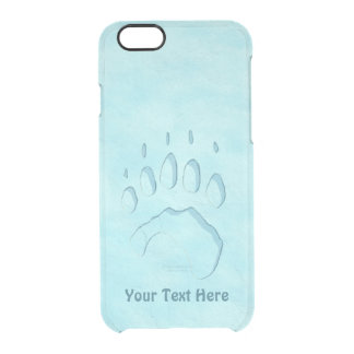 Polar Bear Paw Print Clear iPhone 6/6S Case