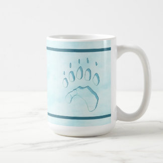 Polar Bear Paw Print Coffee Mug