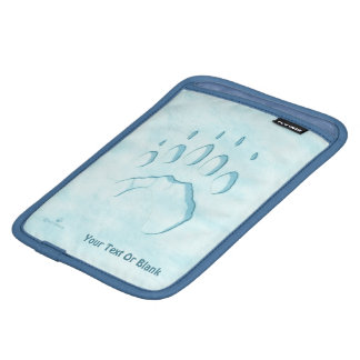 Polar Bear Paw Print iPad Mini Sleeve
