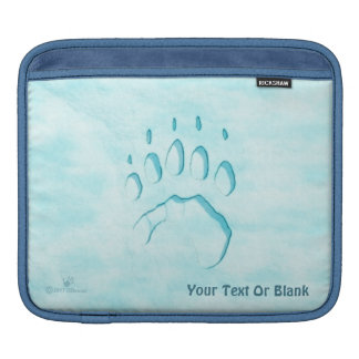 Polar Bear Paw Print iPad Sleeve