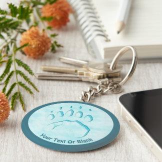 Polar Bear Paw Print Key Ring