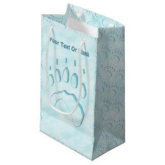 Polar Bear Paw Print Small Gift Bag