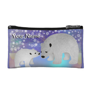 Polar Bear Personalized Cosmetic Bags