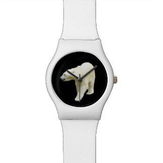 Polar Bear Photo on Black Watch