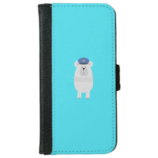 Polar Bear Police Q1Q iPhone 6 Wallet Case