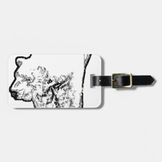 Polar Bear Prowling Luggage Tag