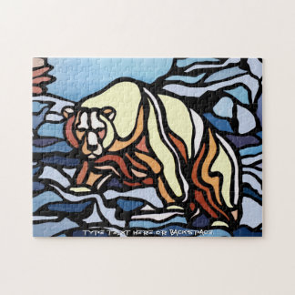 Polar Bear Puzzle Personalized Polar Bear Art Gift