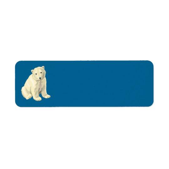 polar bear return address label