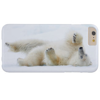 Polar bear rolling in snow, Norway Barely There iPhone 6 Plus Case