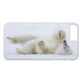 Polar bear rolling in snow, Norway iPhone 7 Plus Case