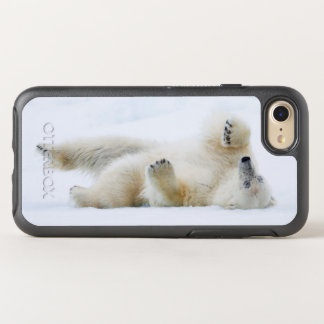 Polar bear rolling in snow, Norway OtterBox Symmetry iPhone 7 Case