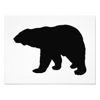 polar bear silhouette art photo