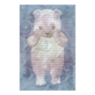 Polar Bear stationery-optional lines Customised Stationery