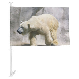 Polar Bear Strut Car Flag