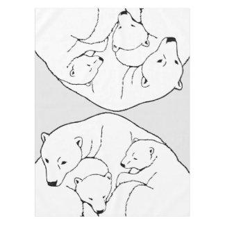 Polar Bear Tablecloth Bear w. Cubs Art Tablecloth