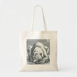 Polar Bear Tote Canvas Bag