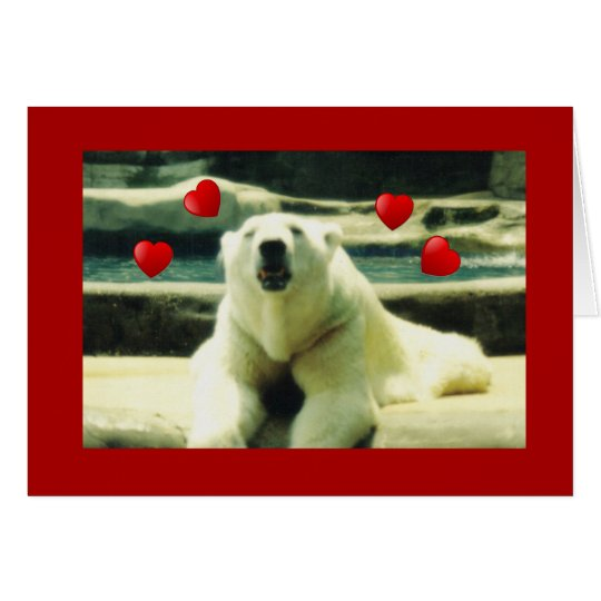 Polar Bear Valentine Greeting Card
