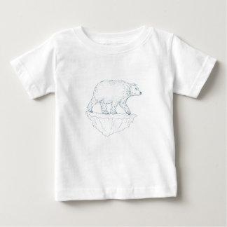 Polar Bear Walking Iceberg Ukiyo-e Baby T-Shirt