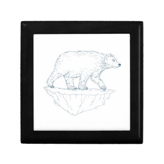 Polar Bear Walking Iceberg Ukiyo-e Gift Box